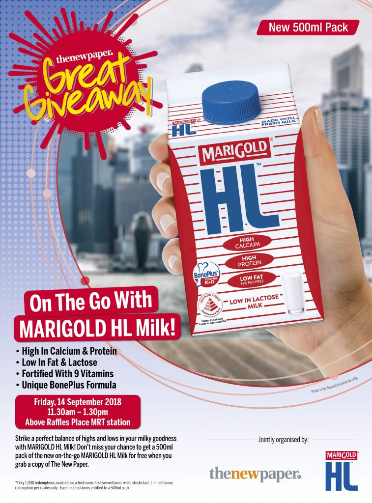 Free HL Marigold Milk for TNP readers